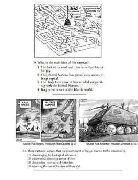 Global/World History - Artifact/Political Cartoon Skills Quiz 4/4 - Units 36-40