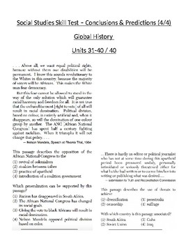 Global/World History - Conclusions/Generalizations Skills