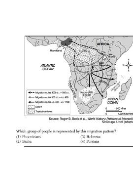 Global - Skills-Based Multiple Choice Quiz - Maps - 1/8 - 9th Gr