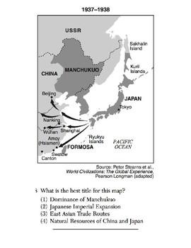 Global History - Map Skills Quiz 7 of 8 (Units 31-35)