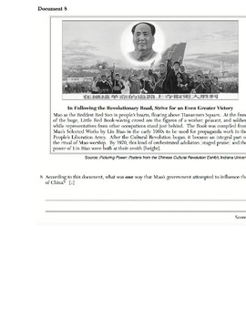 Global History - Primary & Secondary Sources - Chinese Revolution