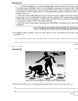 Global/World History - Primary & Secondary Sources - Genocide & Human Rights