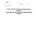 Global History - Primary & Secondary Sources - Genocide & Human Rights