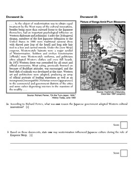 Global History - Primary & Secondary Sources - Japan, WWI & Russian Rev.