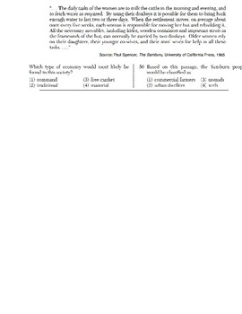 Global History - Speaker Perspective Skills Quiz 1 of 5 (Units 1-15)