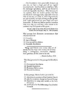 Global/World History - Speaker Perspective Skills Quiz 2/5 - Units 16-20
