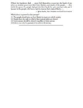 Global History - Speaker Perspective Skills Quiz 3 of 5 (Units 21-25)