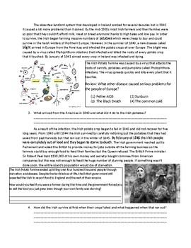 Global/World History: The Irish Potato Famine