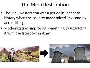 Global/World History: The Meiji Restoration PowerPoint