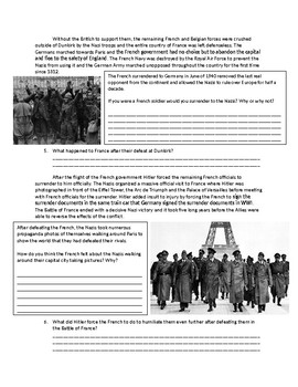 Global/World History WWII The Battle of FRance