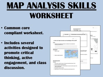 Map Analysis Skills worksheet - Political and Physical Maps