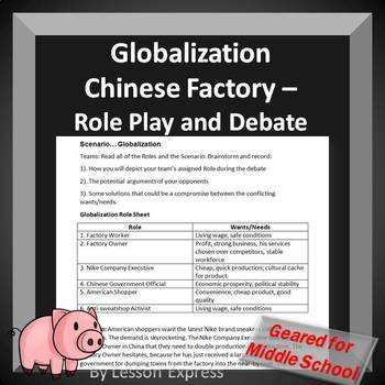Globalization Chinese Factory Scenario -- Classroom Role Play and Debate