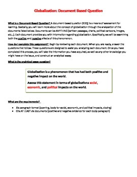 Globalization Document-Based Question