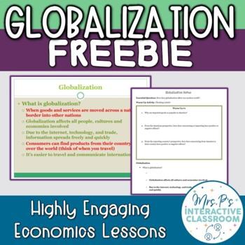 Globalization Economics Lesson Freebie!