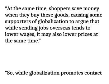 Globalization Gallery Walk