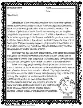 Globalization & Interdependence: Print & Go