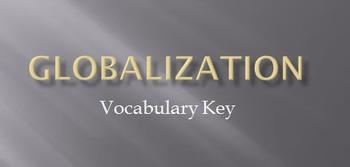 Globalization Vocabulary Student Sheet and Answer Key