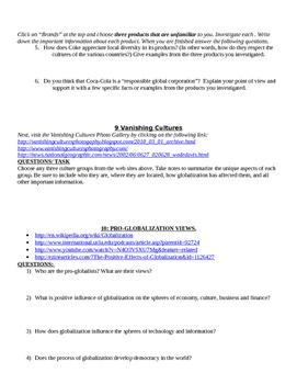 Globalization Webquest
