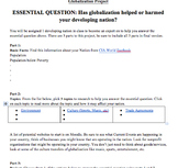 Globalization and Developing Countries Project