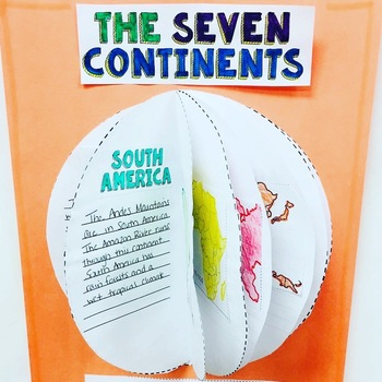 Globe Craft: The Seven Continents Writing Activity