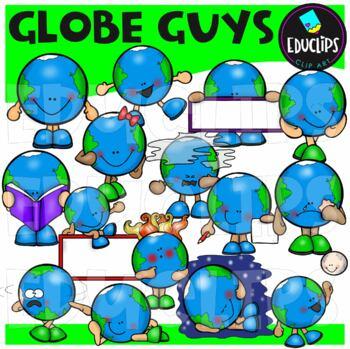 Globe Guys Clip Art Bundle {Educlips Clipart}