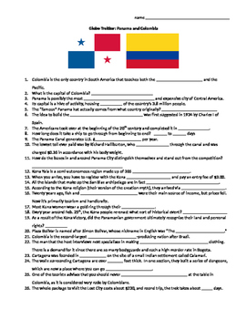 Globe Trekker Panama & Colombia viewing guide worksheet