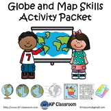 Globe and Map Skills Activity Packet and Worksheets