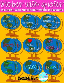 Globes With Quotes Clip Art