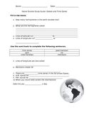 Globes and Time Zones Study Guide