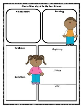 Glora Who Might Be My Best Friend Story Map Graphic Organizer