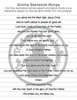 Gloria Prayer Pack