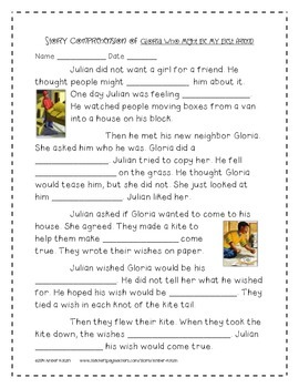 Gloria Who Might Be My Best Friend 2nd Grade Journeys Unit 5, Lesson 22