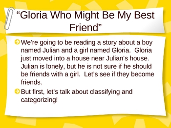 Gloria Who Might Be My Best Friend Classifying and Categorizing