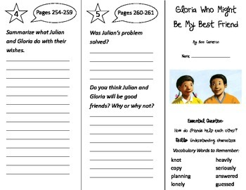 Gloria Who Might Be My Best Friend Trifold - Journeys 2nd Gr U 5 Wk 2 2014 2017