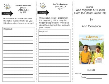 Gloria Who Might Be My Friend- From the Stories of Julian - Journeys Common Core