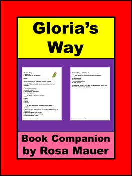 Gloria's Way by Ann Cameron Book Unit