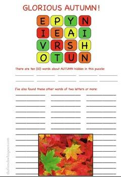 Glorious Autumn! (A game like Boggle)