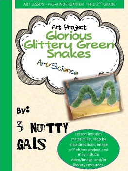Glorious Glittery Gree Snakes Art Project