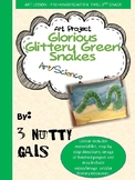 Glorious Glittery Green Snakes Art Project