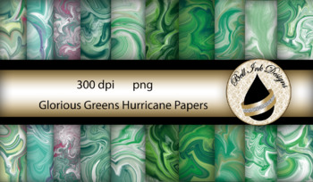 Glorious Greens Hurricane Papers Clipart