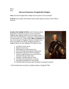 Glorious Revolution & English Bill of Rights