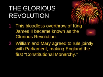 Glorious Revolution Power Point