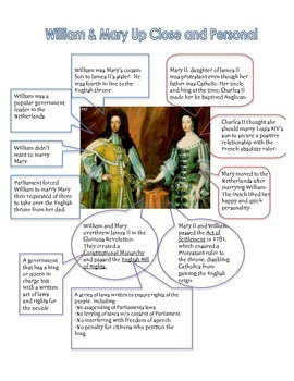 Glorious Revolution Worksheet