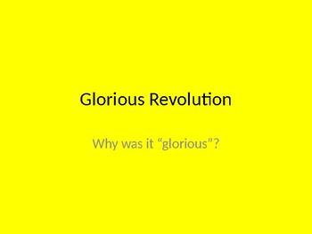 Glorious Revolution powerpoint
