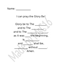 Glory Be Fill in the Blanks