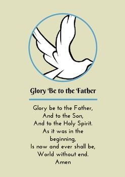 Glory Be to the Father - Prayer Card / Poster