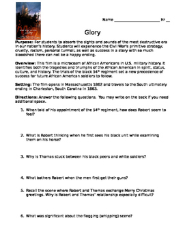 Glory - Movie Guide