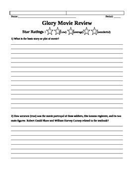 Glory Movie Assignment