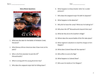 Glory - Movie Questions (Character List & Introduction)