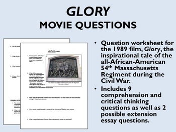 Essay On English Subject Glory Movie Questions  Us Historyapush Health And Fitness Essay also Persuasive Essay Sample Paper Glory Movie Questions  Us Historyapush By Epic History Worksheets Thesis Statement For Education Essay